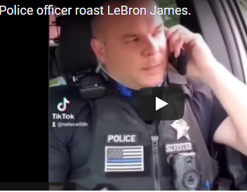 Officer asks LeBron James how to be a cop
